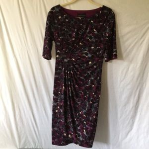 Connected Apparel Side Ruching Dress